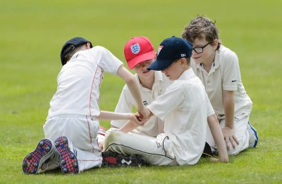 Four young Cricketers