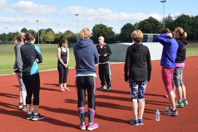 Moving Mums - track training session